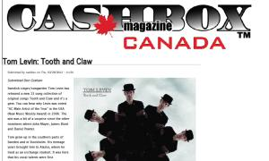 Tom Levin Reviewed in Cashbox Magazine